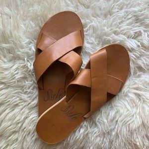 Sseko designs crossover sandals size 7